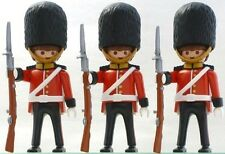 """Playmobil 4577 Royal Guards 3 Figure Lot Rare """"NEW"""" Sealed Bags People Soldiers"""