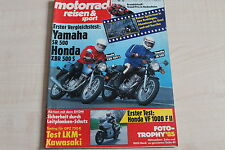 164726) Yamaha SR 500 vs Honda XBR 500 S - Motorrad Reisen Sport 12/1986