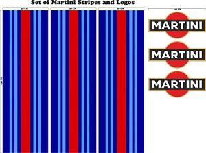 Le-Mans-Martini-Racing-style-Stripe-156cmx30-cm-Logo-Set-Sticker-decal-A648kkl