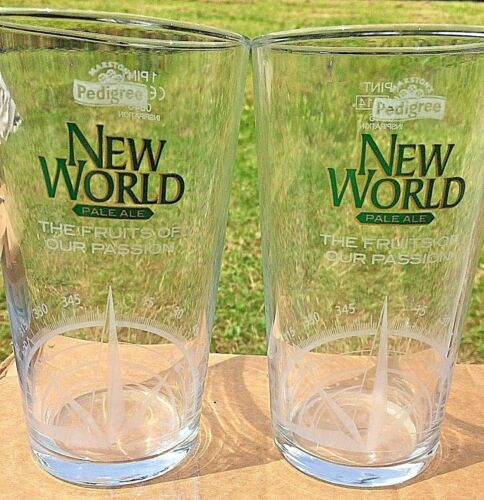 Marstons NEW WORLD Pale Ale Pint Glasses Pack of 2