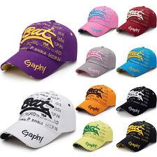 Mens Womens Baseball Cap Embroidery Letter Snapback Sport Unisex Summer Sun Hat