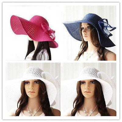 2015 Women's Summer Beach Sun Hat Straw Fold Large Brim Elegant Bohemia cap 060