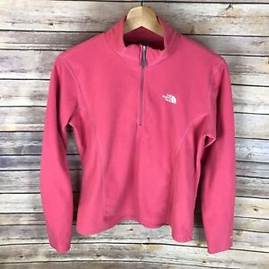 c4770219f Details about The North Face TKA 100 Girls Coral 1/4 Zip Fleece Pullover  Warm Soft Layer Sz XL
