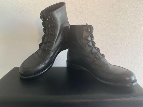 Bottega Veneta Men's Black Leather Boots Size 11.5