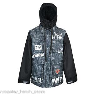 Nwt Snowboard Jacket Vest Exploited Acid Technine Medium Wash qqx6THf