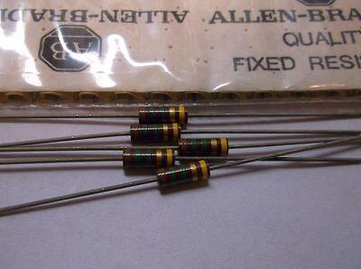 5 Allen Bradley Carbon Comp Resistor RCR 1.5 meg 1/2 watt 5%