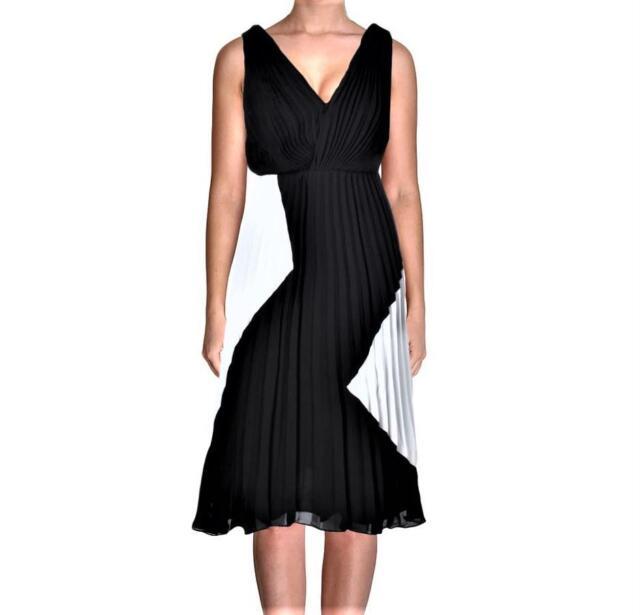 Sam Edelman Womens Pleated Hi-Low Night Out Midi Dress BHFO 6506