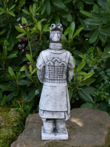 Massive Pierre personnage chinois Terre Cuite Guerrier Motif II Steinguss au gel