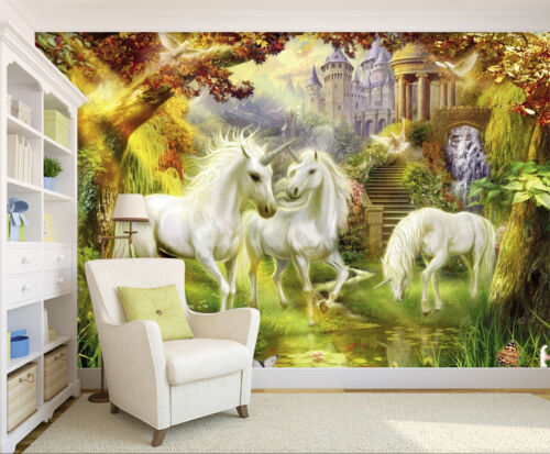 3D Unicorn Animal 63 Wallpaper Murals Wall Print Wallpaper Mural AJ WALL AU Kyra
