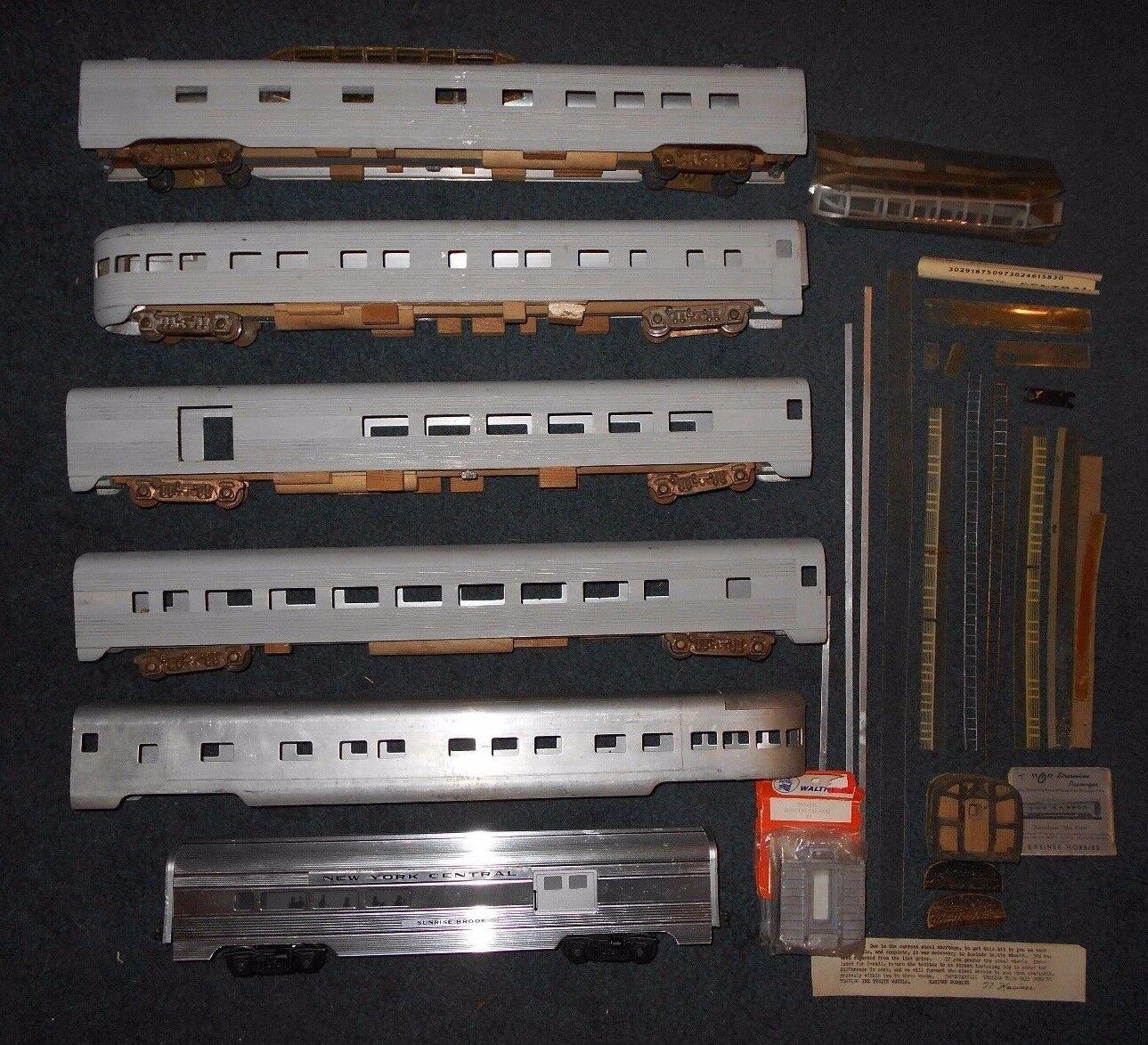 6 Lionel O ga nuovo York Centrale e Kasiner 21 pollici Auto Passeggeri Kit Aluminum autos