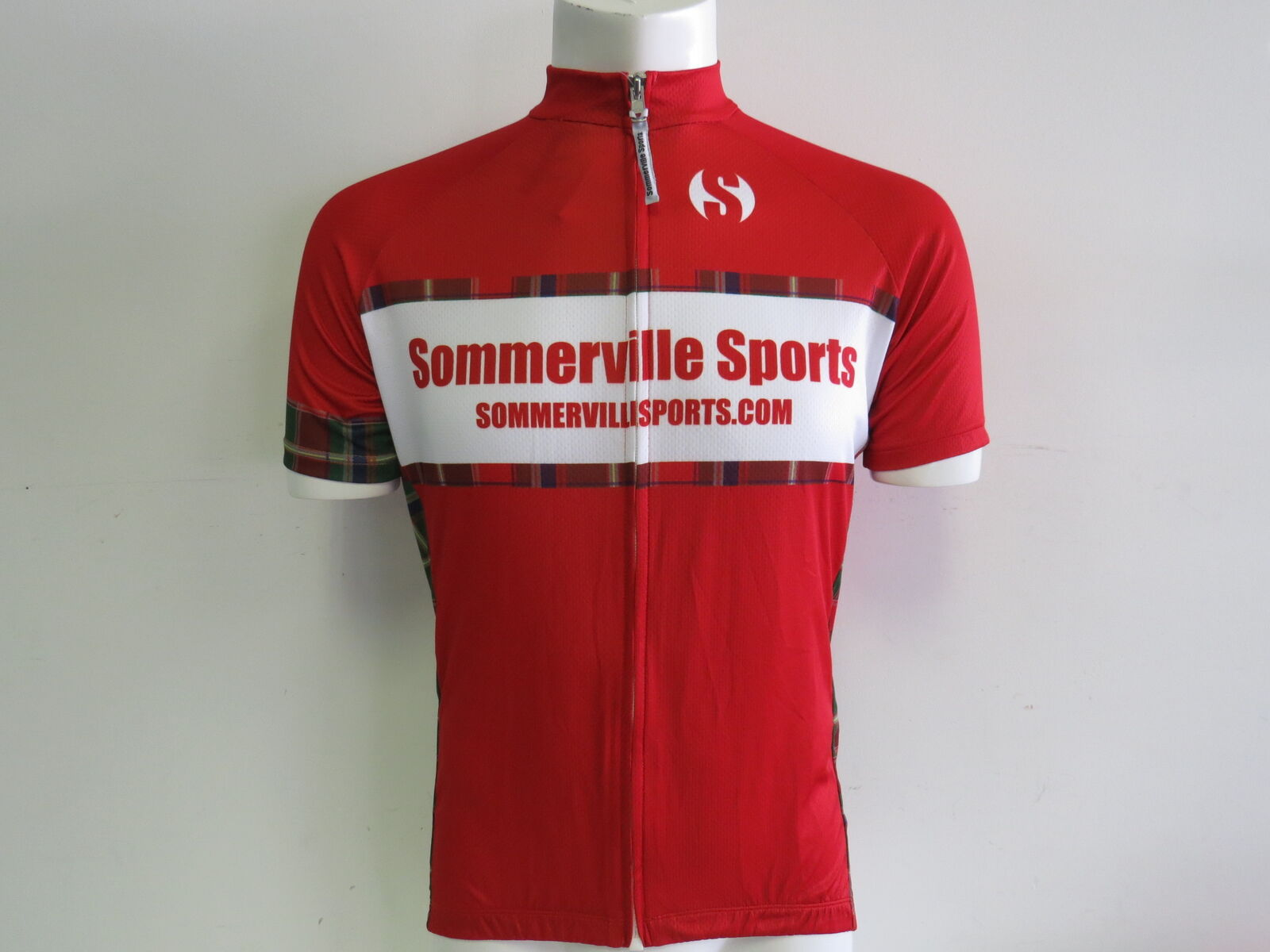 Brand New Sommerville Sports Short Sleeve Cycling Jersey Race Cut Red XXL 2XL