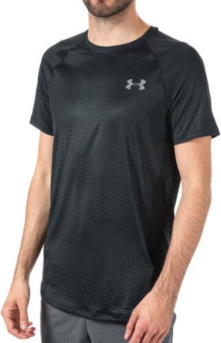 Under Armour HeatGear Mens Gym Training Top Black Short Sleeve T-Shirt Workout