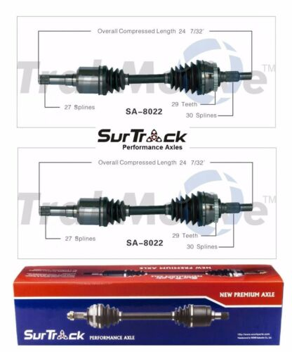 For Saab 9-5 FWD//AWD 2002-2010 Pair of Front CV Axle Shaft Assies SurTrack Set