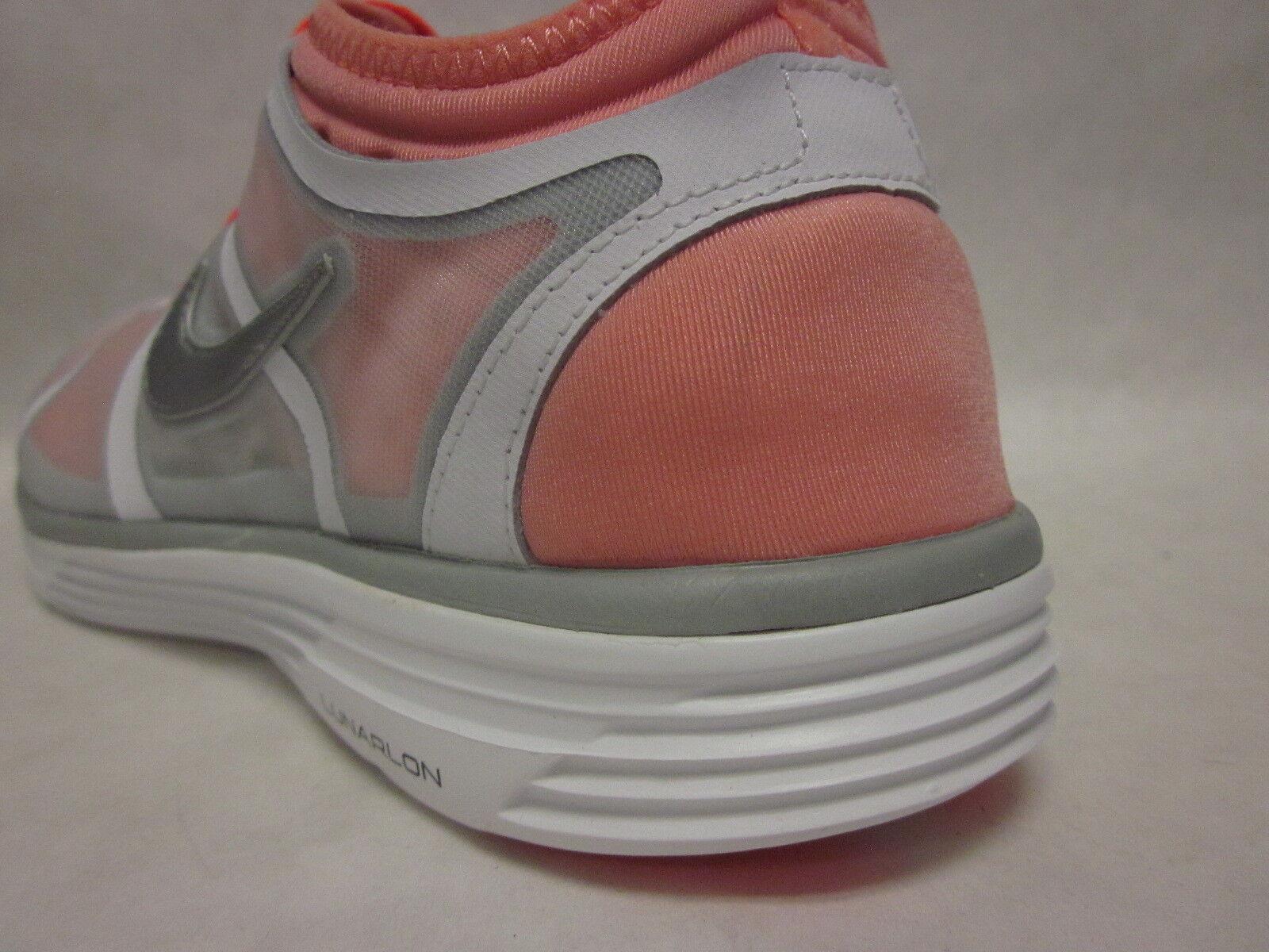 Nike Nike Nike Womens Lunarbase White orange Sneaker - size 8 c0abd4