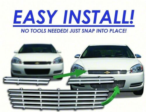 For 06-11 Chevy Impala Chrome Grille Overlay IWCGI80