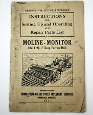 Moline Monitor Instructions For 10x14 Q 1 Deep Furrow Drill Attachment Manual
