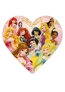 Disney Princess Edible CAKE TOPPER PARTY RICE PAPER HEART ...