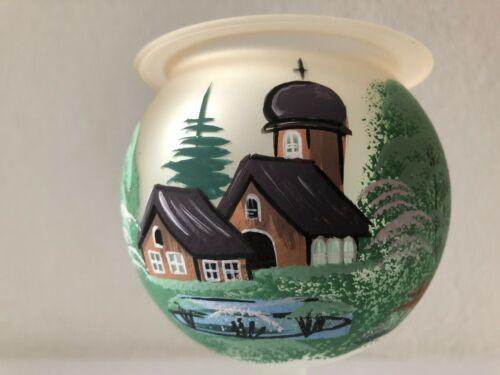 Teelichthalter Kelch Glas Deko,Handarbeit,Windlicht,Frühling,Sommerdorf