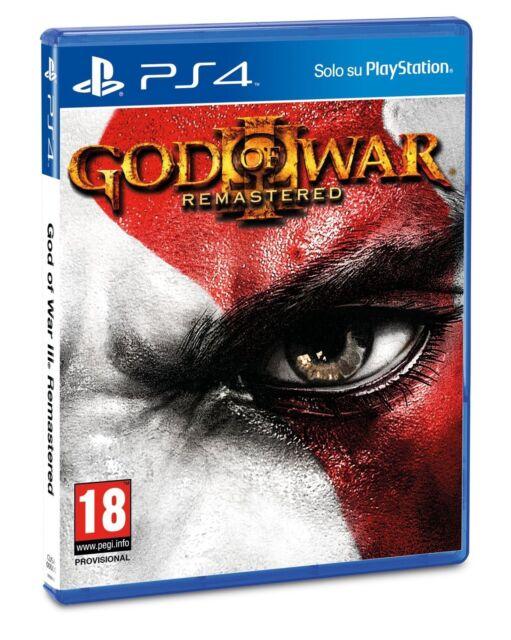 GOD OF WAR 3 REMASTERED PS4 VIDEOGIOCO ITALIANO PLAYSTATION 4 GIOCO UK NUOVO