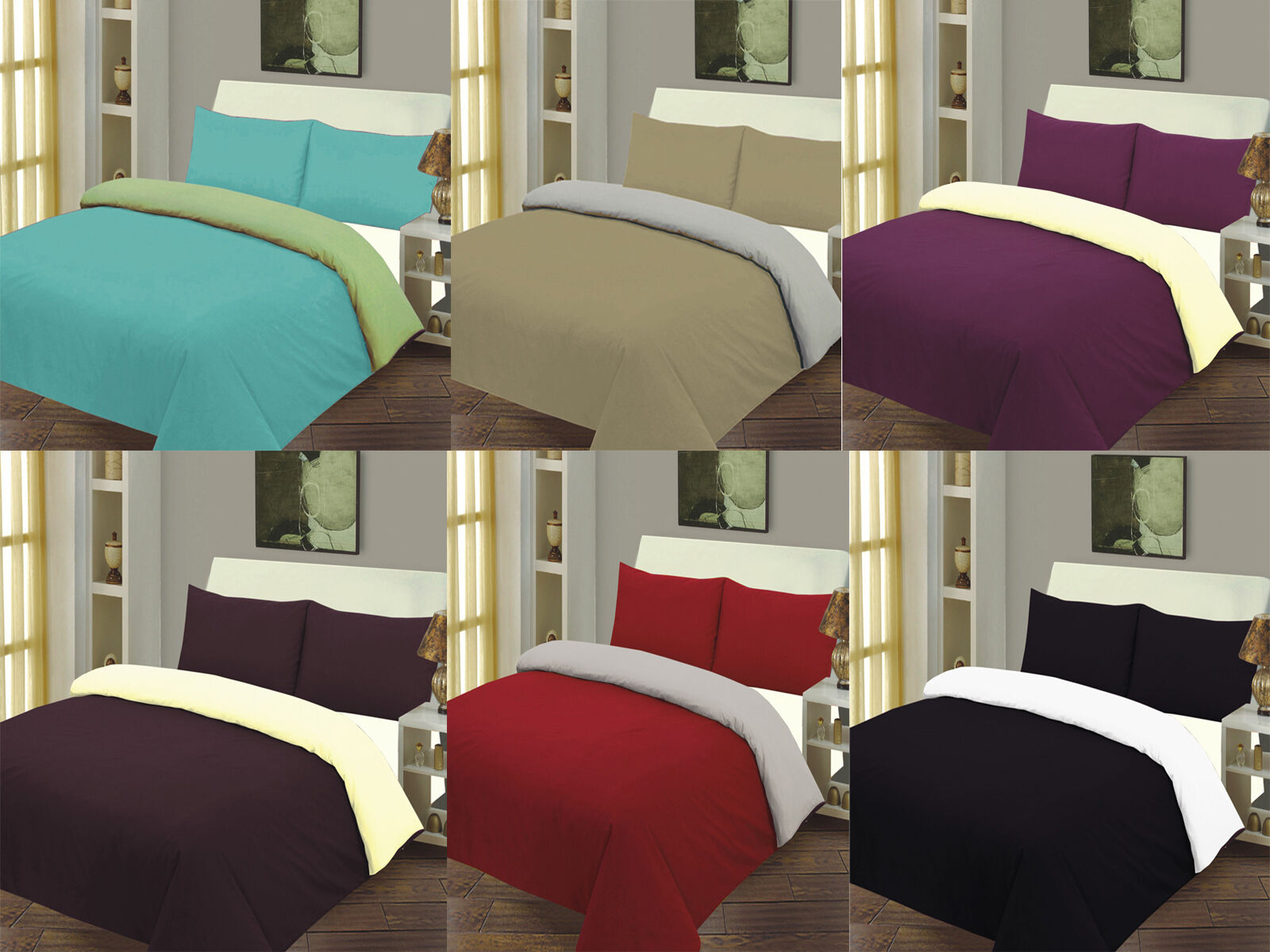 Stylish Front Reverse Duvet Cover Bed Set Quilt Cover Single Double ...