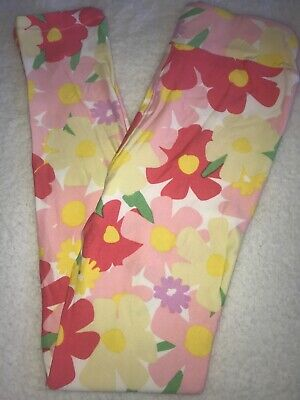 LuLaRoe Kids Leggings L//XL Large XLarge NWT Gray Striped//Orange Yellow Floral