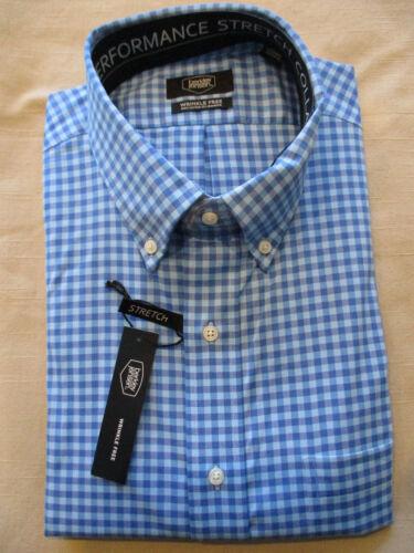 NEW BERKLEY JENSEN BUTTONDOWN COLLAR DRESS SHIRT BLUE GINGHAM 17 17.5 34//35