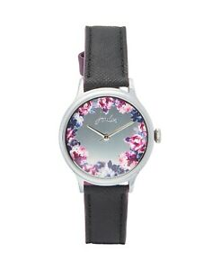 Joules-Posey-Watch-Ladies-Silicone-Dusk-Grey-Winter-Floral-Free-P-amp-P