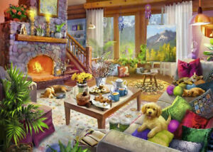 Cozy-Cabin-1000-Piece-Jigsaw-Puzzle-Best-Selling-Puzzles-Free-Shipping-New