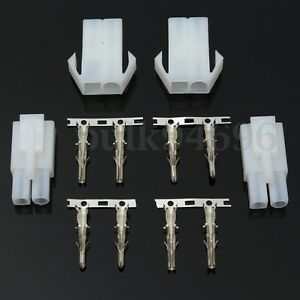 Motorcycle-Battery-Charger-Adapter-Plug-Socket-Male-Female-2-Way-Pin-Connector