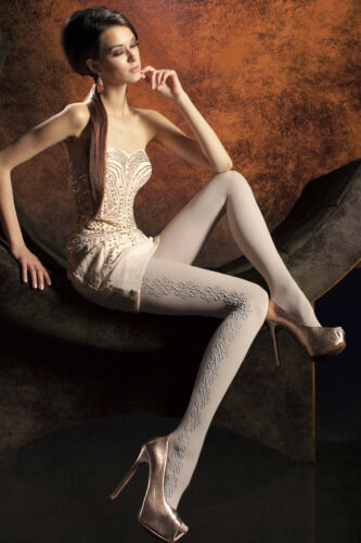"""60 DEN PATTERNED 3D LUXURY TIGHTS WITH ELASTANE /""""DOROTHY/"""""""