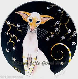 Siamese-Cat-Redpoint-print-signed-from-original-painting-by-Suzanne-Le-Good