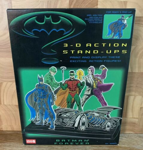 Batman Forever 3D 3-D Action STAND-UPS Paint /& Affichage figures Craft House 1995