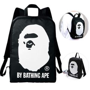 f110d1b1d677 Bape A Bathing Ape Backpack Bag Canvas School Travel Treasure Bag ...