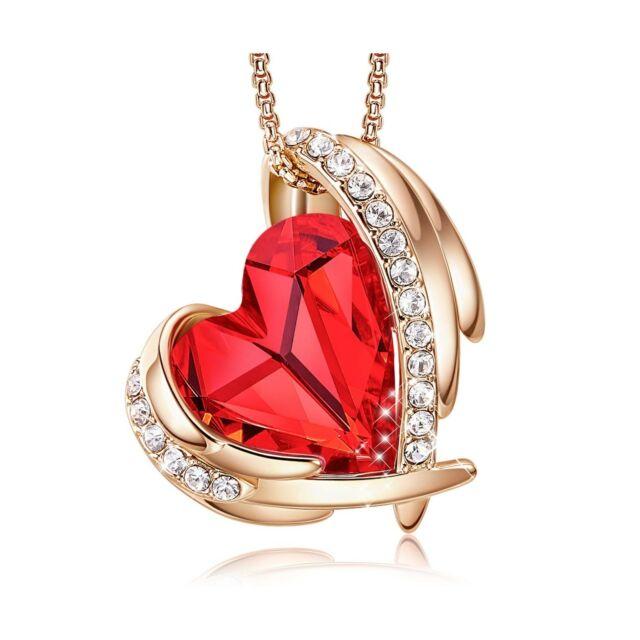 Gorgeous Rose Gold Tone Rhinestone Heart NecklaceFree Shipping