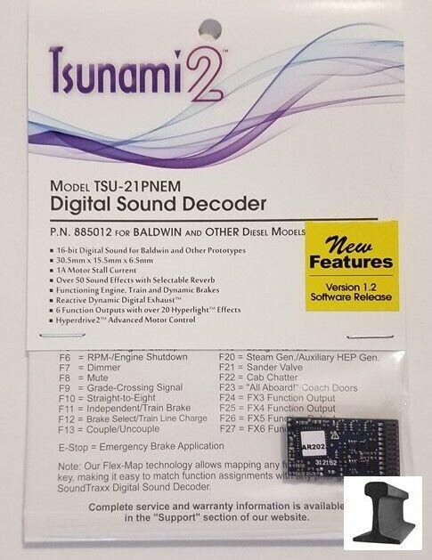SoundTraxx  New 2019  Tsunami 2  TSU-21 Pin Baldwin  Sound Decoder  885012