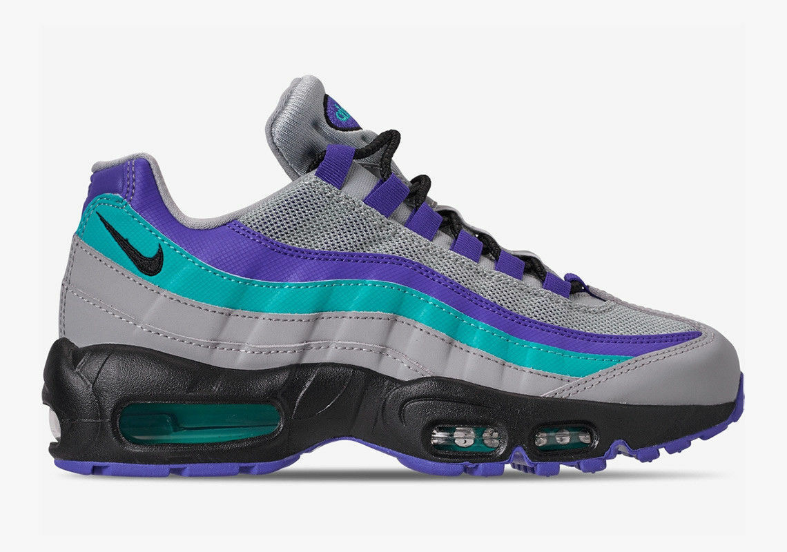 Nike Air Max 95 OG AT2865 001 Aqua Purple Men Wolf grey indigo burst all sizes