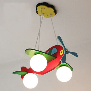 Kid 39 s bedroom red airplane ceiling pendant lamp study room for Hanging lights for kids room