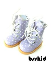 "Y02 BJD Yo-SD 1/6 Dollfie 13"" Effner 12"" Kish Doll Shoes Boot Purple Polka Dot"
