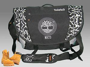 New-Vintage-TIMBERLAND-MESSENGER-Shoulder-BAG-T29-NH73-Black