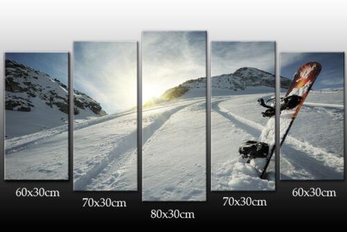 DEKOART BILDER WANDBILD SNOWBOARD KUNSTDRUCK LEINWAND BILD 150cm//80cm