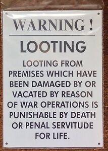 METAL-RAILWAY-SIGN-WARNING-LOOTING-THEFT