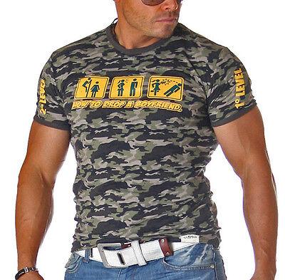 SuperTrenDy ClubWeaR T-Shirt Kurzarm Camo Camou Tarn Tarnmuster Camouflage 220