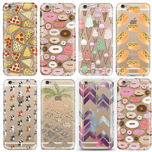 Fashion-Transparent-Soft-Silicone-TPU-Cover-Case-For-iPhone-5S-SE-5C-6S-7-7-Plus