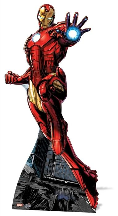 Iron Man Marvel Avengers Comic Cardboard Cutout Stand up Standee. At your Party