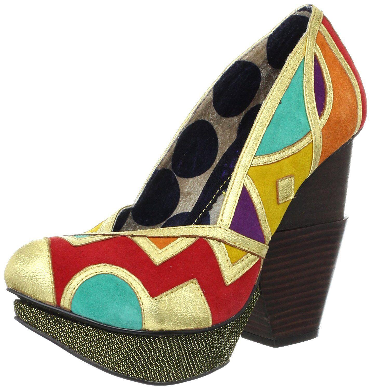 IRREGULAR CHOICE STUDIO IC 1C or chaussures PUMPS SEXY PLATFORM PLATFORM PLATFORM 6.5 FUN NIB da4241