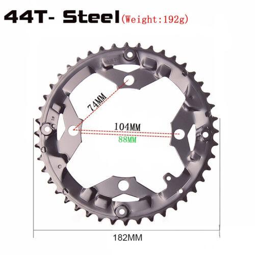 44T//42T//32T//24T//22T Bcd 104//64 Vorne Kettenblatt Ritzel MTB Fahrrad Zubehör Neu