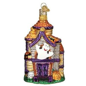 Old World Christmas HAUNTED HOUSE (26038)N Glass Ornament w/ OWC Box