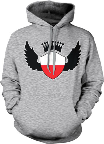Poland Flag Shield Crown Wings Polish Pride Olympics Hoodie Pullover