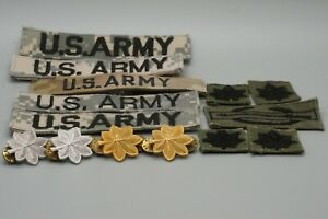 Vietnam War Army Lieutenant Colonel & Major Insignia Sets & Patch Sets Lot Of 14