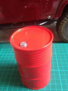 1-10-RC-Rock-Crawler-Accessory-red-plastic-Oil-Drum-scale-garage-etc